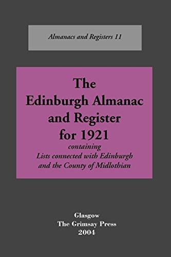 Edinburgh: An Almanac, 1921: Oliver and Boyd
