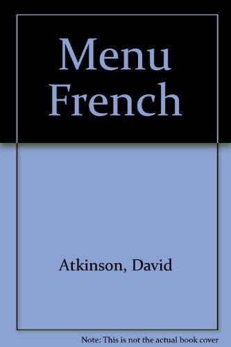 9780902692176: Menu French