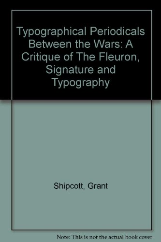 9780902692190: Typographical Periodicals Between the Wars: A Critique of