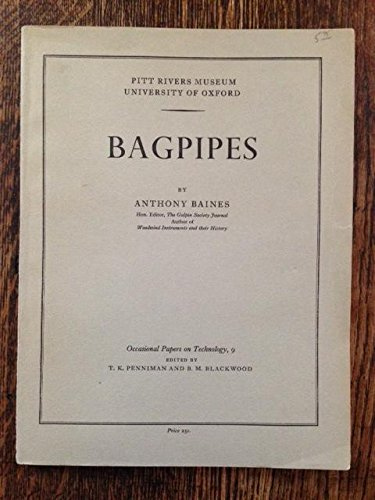 9780902793101: Bagpipes (Occasional papers on technology)