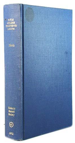 9780902832039: Douai College Documents, 1639-1794 (Catholic Record Society. Publications)
