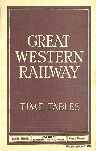 9780902888319: Great Western Railway Timetables 1932