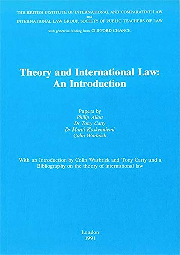 9780903067348: Theory and International Law: An Introduction