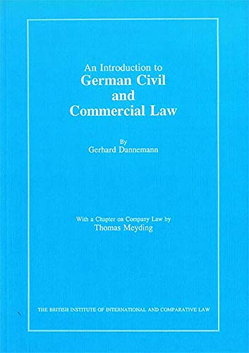 9780903067355: Introduction to German Civil and Commercial Law (United Kingdom Comparative Law)