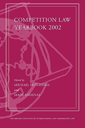 Competition Law Yearbook 2002: Hutchings, Michael &