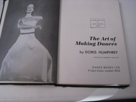 9780903102384: Art of Making Dances