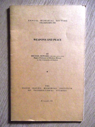 Weapons and Peace (9780903227155) by Michael Howard