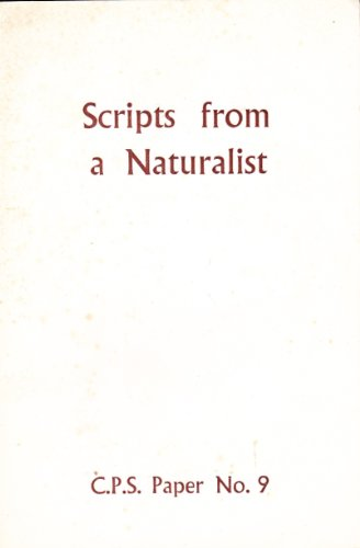 9780903336086: Scripts from a naturalist
