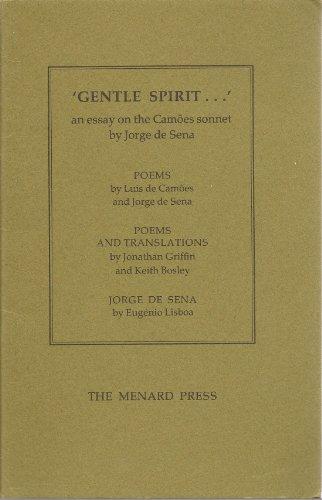 GENTLE SPIRIT.AN ESSAY ON THE CAMEOS SONNET: Rudolf, Anthony (Ed.)