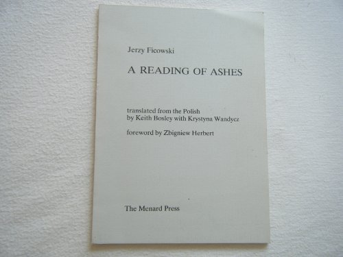 9780903400633: A Reading of Ashes
