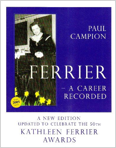 9780903413718: Ferrier: A Career Recorded
