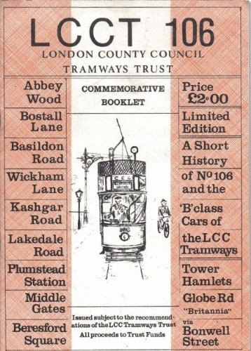 9780903479172: London County Council Tramways Class