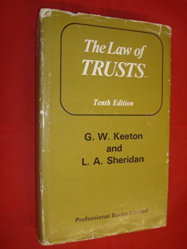 9780903486040: Law of Trusts