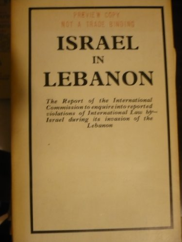 Israel in Lebanon : report of the international commission to enquire into reported violations of ...