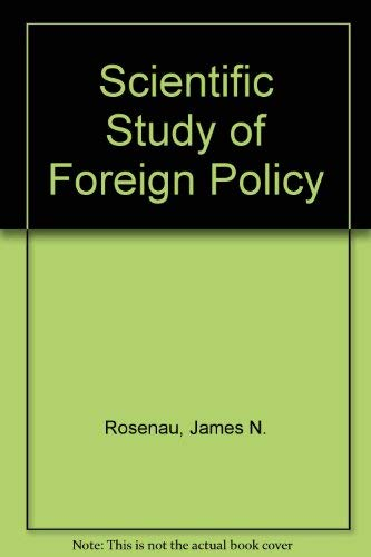 9780903804578: Scientific Study of Foreign Policy