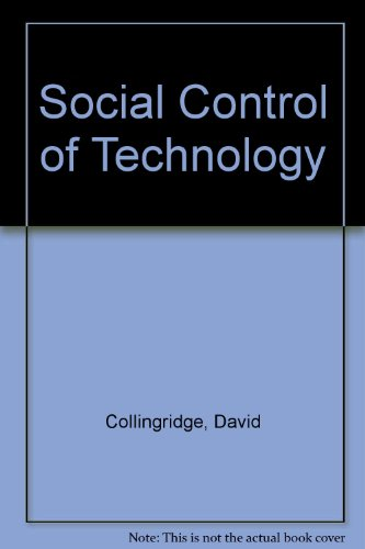 9780903804721: Social Control of Technology