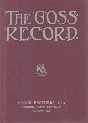 9780903852029: The Goss Record