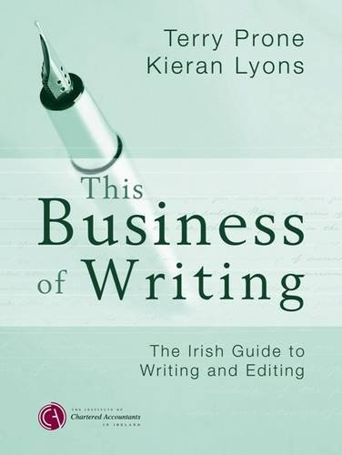 This Business of Writing: Terry & Lyons, Kieran Prone