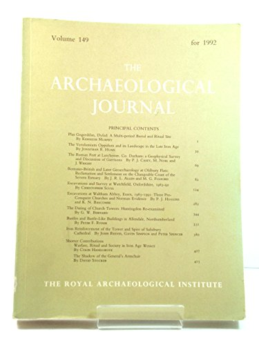 9780903986298: the archaeological journal: 149 for 1992