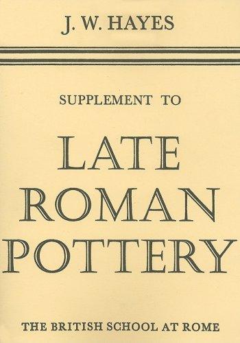9780904152104: Late Roman Pottery: Suppt