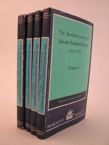 9780904180107: The Resolution Journal of Johann Reinhold Forster, 1772-1775: Volume 1-4 (Second)