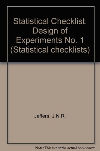 9780904282214: Statistical Checklist: Design of Experiments No. 1 (Statistical checklists)