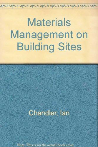 9780904406238: Materials Management on Building Sites