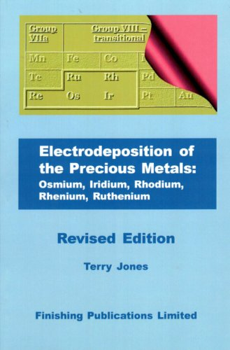Electroplating of the Lesser-known Precious Metals: Rhodium, Ruthenium, Iridium, Rhenium, Osmium (0904477274) by Terry Jones