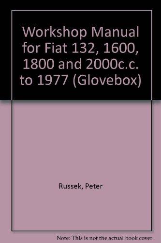 9780904509441 workshop manual for fiat 132 1600 1800 and 2000c c rh abebooks co uk fiat 132 service manual Fiat 128