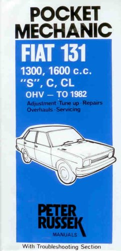 9780904509489: Workshop Manual for Fiat 131, 131S Mirafiori (Glovebox)