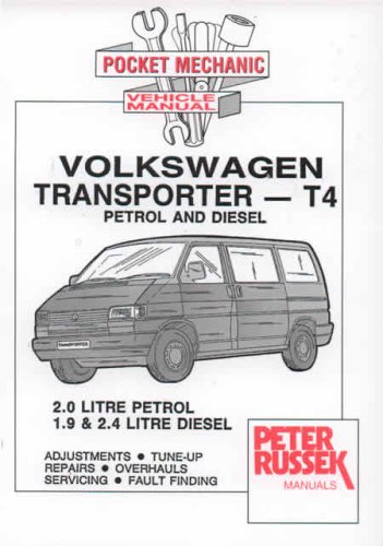 9780904509694: Pocket Mechanic for Volkswagen Transporter, T4 Model, 2.0 Litre Petrol, 1.9 and 2.4 Litre Diesel, Since Introduction