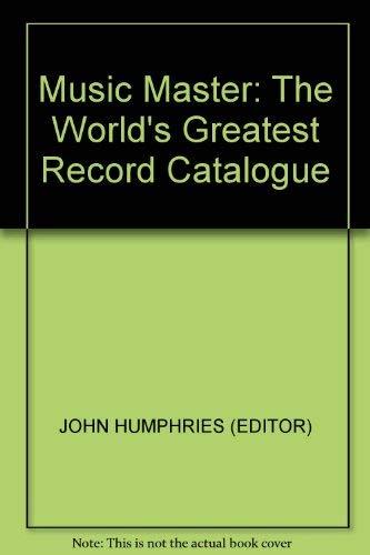 The Music Master Record Catalog