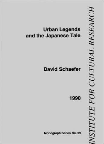 9780904674194: Urban Legends and the Japanese Tale (Institute for Cultural Research monographs)