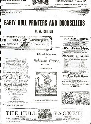 Early Hull Printers and Booksellers