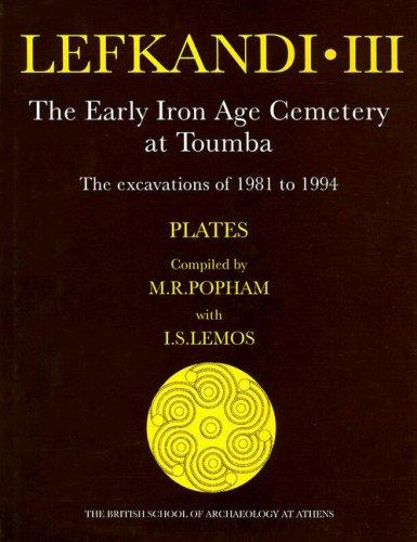 Lefkandi III (plates) (Supplementary Volume): Popham, M.R.