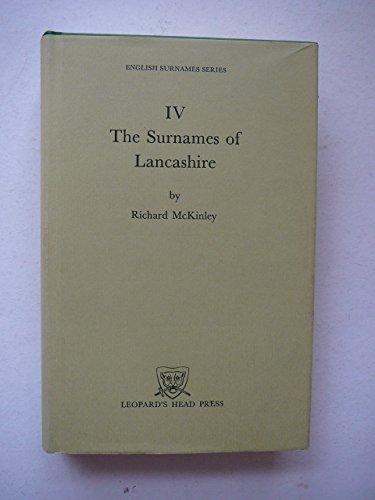 9780904920055: The Surnames of Lancashire (English surnames series)