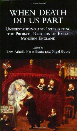 9780904920420: When Death Do Us Part: Understanding and Interpreting the Probate Records of Early Modern England (Local Population Studies S.)