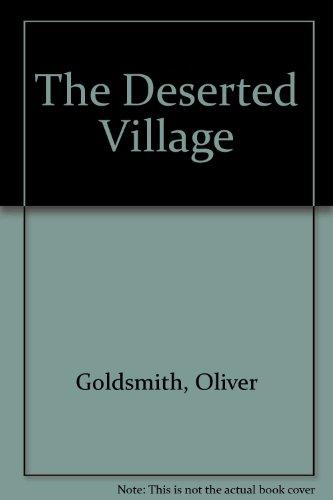 Deserted village: Goldsmith, Oliver