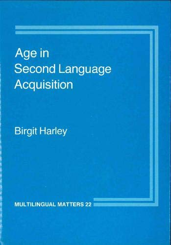 9780905028576: Age in Second Language Acquisition (Multilingual Matters)