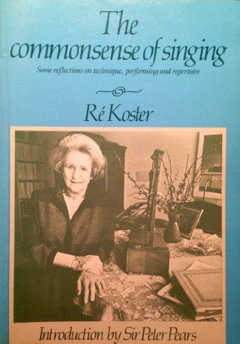 9780905210360: Common Sense of Singing