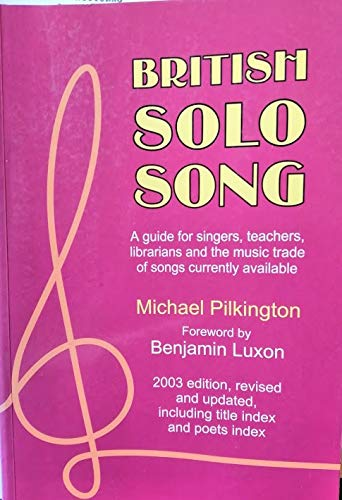 9780905210780: British Solo Song