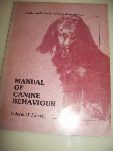 9780905214061: Manual of canine behaviour