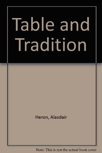 9780905312262: Table and Tradition