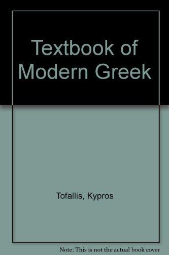 9780905313085: Textbook of Modern Greek