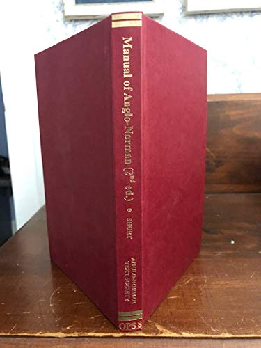 9780905474571: Manual of Anglo-Norman