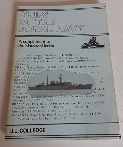 9780905617404: Ships of the Royal Navy: Suppt: An Historical Index