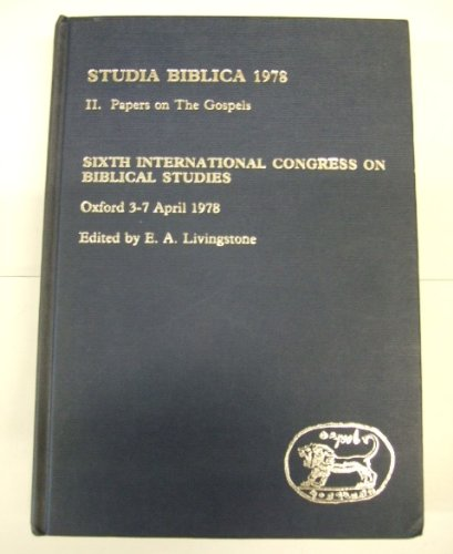 Studia Biblica 1978 2 Papers on the: n/a