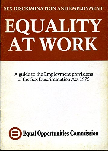 Equality at Work, a Guide to the: Lambert, Deborah