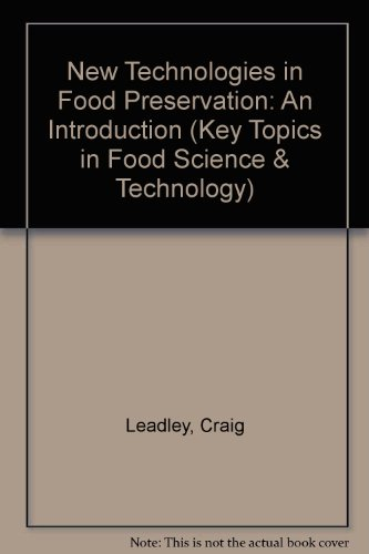 9780905942636: New Technologies in Food Preservation: An Introduction (Key Topics in Food Science & Technology)