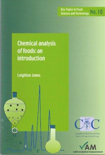 Chemical Analysis of Foods: An Introduction (Key: Jones, Leighton
